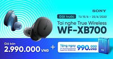 [LAUNCHING TAI NGHE SONY WF-XB700] TẶNG NGAY pin sạc dự phòng Zendure cho khách hàng đặt trước